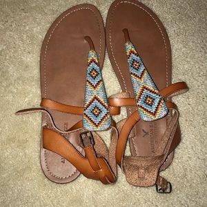American Eagle Tribal print sandals